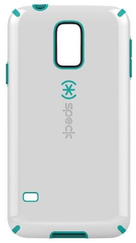 Speck CandyShell Grip Case Cover Schutzhülle für Samsung Galaxy S5 - Weiß/Caribbean Blue Samsung Us Cellular Handy