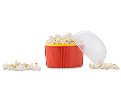 Popcorn Maker Mikrowelle | Ideal als Popcornmaschine | Mikrowellen Popcorn kalorienarm | Mikrowellen Popcorn Schüssel | Popcorn Popper Mikrowelle