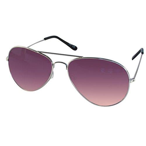 CHICNET Hochwertige Sonnenbrille Unisex Pilotenbrille Fliegerbrille verspiegelt getönt 400UV...