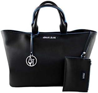 Armani Jeans 922532 - Bolso de tela para mujer negro negro B 39 x H 29 x T 12
