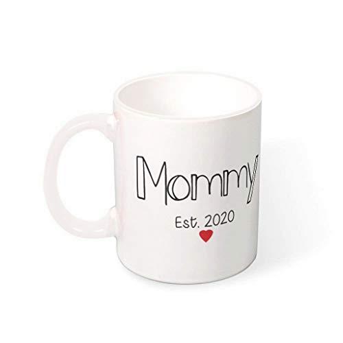 O3XEQ-8 11 Unze Mommy est Becher Tasse Hochwertige Keramik Fun Becher - Lustige Geschenke für Mama Mädchen Geschenk (Beidseitig Bedrucken) White 330ml