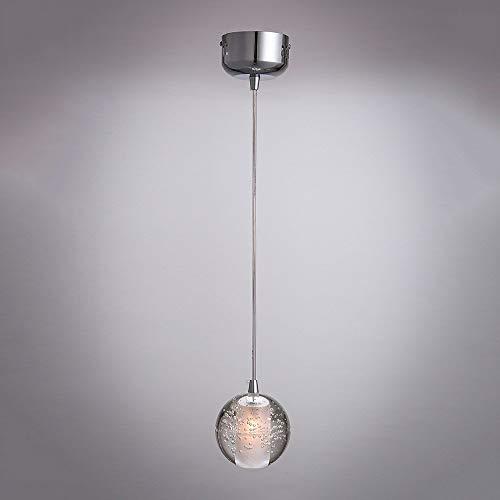 Fxing moderno minimalista sfera di cristallo lampadario singoli ristorante bar café testa singola luce di illuminazione attrezzatura creative bar ristorante occidentale lampada sospesa