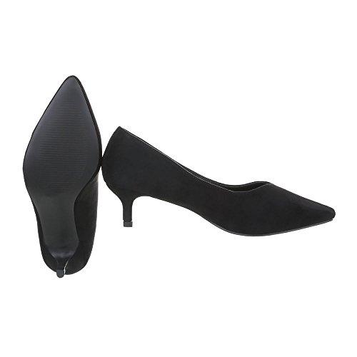 Ital-Design Scarpe da Donna Scarpe Col Tacco Tacco a Cono Classico Scarpe Col Tacco nero LL222