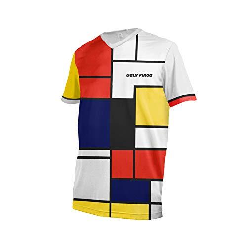 Uglyfrog Bike Wear Atmungsaktiv Trendy Herren Downhill/MTB Jersey Mountain Bike Shirt Fahrradtrikot Kurzarm Freeride BMX Top