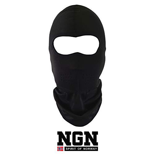 NGN Neopren Balaclava Schwarz für Damen & Herren – Sturmhaube Black für Ski, Snowboard & Motorrad | Schwarze Sturmmaske | Atmungsaktive Skimaske | Gesichtsmaske | Outdoor Face-Mask | Motorradmaske