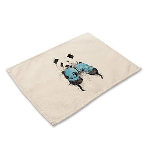 (TGHYujh Beschützer Ideal Western 2 Stück Cute Bear_China Cotton & Leinen Stoff Kissen Cute Bär Druck, 42 * 32cm, MA0043-1)