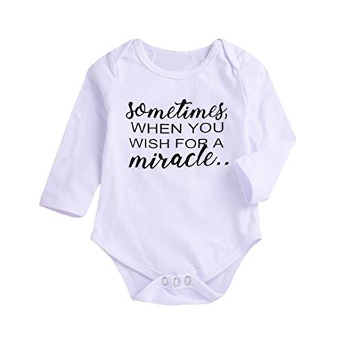 Babybekleidung Rosennie Kleinkind Kinder Baby Junge Brief Druck Strampler Spielanzug Overall Mode Baby Kleidung Outfit Set Kinderkleidung Solid Bekleidungssets Babyanzug(Weiß A)