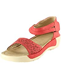 Meriggiare Women Red Synthetic Flats