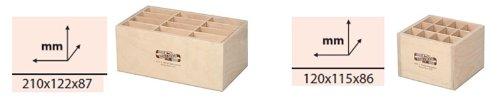 Koh-I-Noor 9475 wooden pencil box, brush box