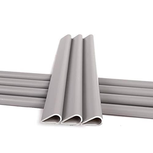 Naimorui 30 Stück Befestigungsclips Klemmschienen für PVC Sichtschutzfolie Sichtschutzstreifen - 30 Stück/Pack, Grau