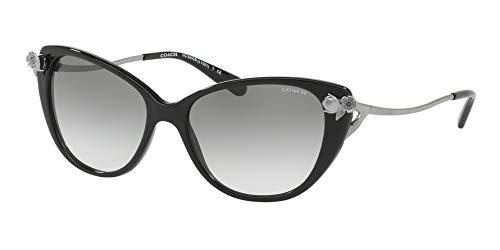Coach - Damen, Hc8242b 55 L1021, Sonnenbrille, 55 mm Damen, Schwarz (schwarz), Einheitsgröße