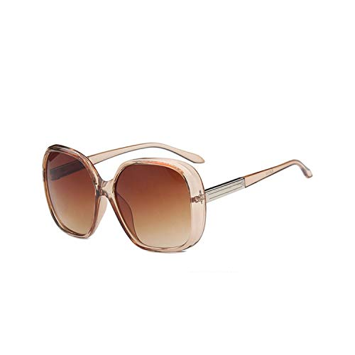 Sport-Sonnenbrillen, Vintage Sonnenbrillen, NEW Fashion Big Frame Sunglasses Women Brand Designer Gradient Lens Travel Sun Glasses UV400 Oculos De Sol Gafas Champagne Tea
