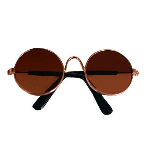 LDA GET Fresh Puppen-kühle Glas-Haustier-Sonnenbrille für Spielzeug-Foto Props-6 BJD Blyth American Grils