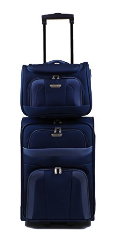 Travelite Orlando Trolley 53 cm + Beauty Case in 3 Farben (Blau) -