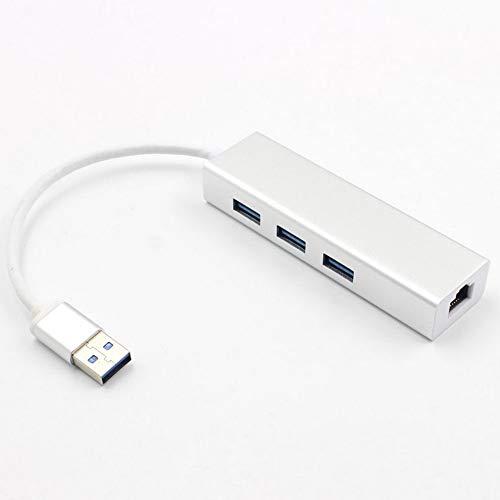 Preisvergleich Produktbild Mouchao Network Adapter USB 3.0 to Three Ports Ethernet RJ45 LAN Gigabit Connector