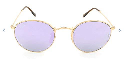 Ray-Ban Unisex Sonnenbrille Rb 3447n Gestell: Gold,Bügel: Havana, Gläser: lila 001/8O), Small (Herstellergröße: 50)