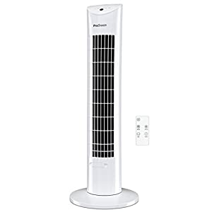 Pro Breeze® Oscillating 30-inch Tower Fan with Ultra-Powerful 60W Motor, Remote Control, 7.5 Hour Timer and 3 Cooling Fan Modes for Home and Office
