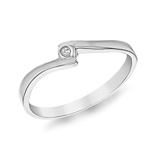 Tuscany Silver 8.47.8470 - Anillo de plata, con diamante (0.05), talla 9