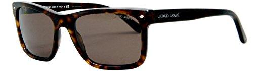Giorgio Armani Herren AR8028 Frames of Life Special Series Sonnenbrille, Braun (Brushed Havana 500253), One size (Herstellergröße: 55)