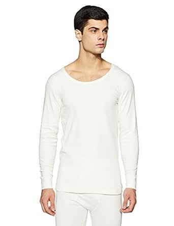 Jockey Men's Plain Cotton Vest (2401-0105_Off-White_XS)