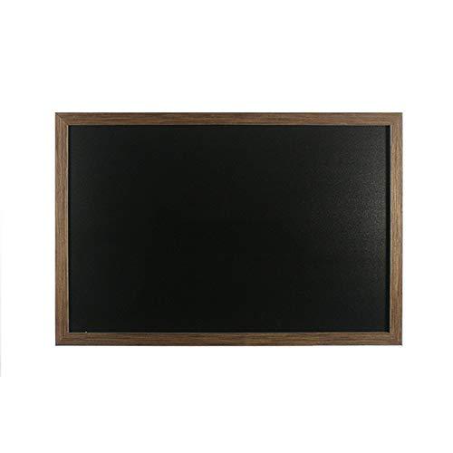 Incluso materiale di sospensione Watterfest Lavagna 70 x 90 cm con cornice in legno Grigio Pannello a muro per appendere Scritta con pennarelli per gesso e gesso