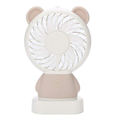 CAOQAO Mini LED Buntes Licht LED Ventilator USB Ventilator, 2 Geschwindigkeiten einstellbar Tragbarer Ventilator Wiederaufladbar, Für Zuhause, Büro Und Reisen, Spazierengehen, Wandern, Camping -