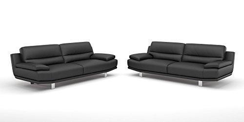 Leder Sofa Couch 2-Sitzer Designer Polstergarnitur Sitzgruppe Couchgarnitur - 4