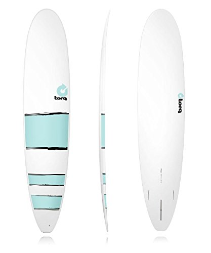 Surf Board TORQ Epoxy 9.0Longboard Malibu Blue Bands