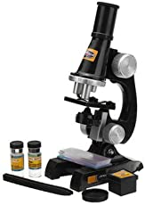 Generic Children Microscope Kit with Light Science Lab Magnifier Educational Kids Toy Gift