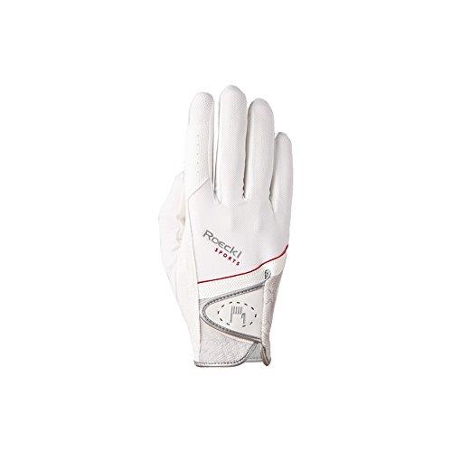 Roeckl Sports Handschuh Madrid, Unisex Reithandschuh, Weiß, Größe 6,5