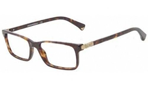 Emporio Armani Women s 3005 Dark Tortoise Frame Plastic Eyeglasses, 51mm 4cd3055b2a42