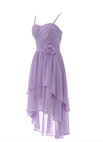 YiYaDawn Vokuhila Kleid Cocktailkleid Brautjungfernkleid mit Blume für Damen Dunkeltürkis