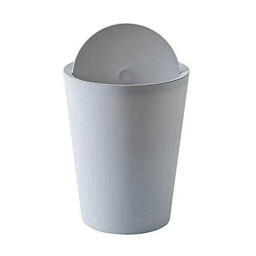 zhongleiss Abfalleimer Setzen Sie den Deckel auf, Papierkorb, Zimmer, großer Ring, Mülleimer, Wohnzimmer, Schlafzimmer, Küche, Bad, Hellgrau (Mülltonne Zimmer)