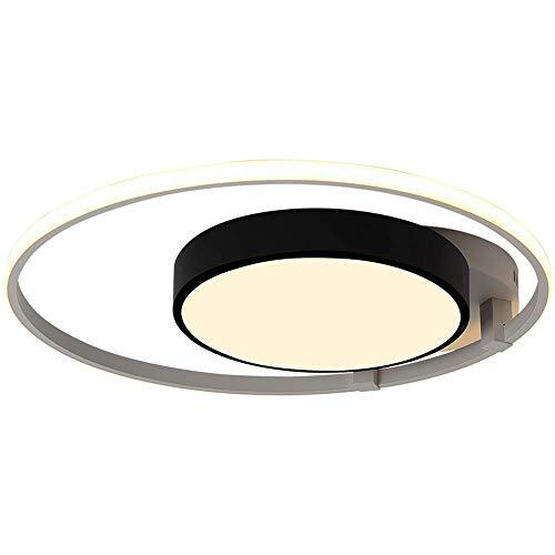 ♪ LED Deckenleuchte Moderne Kreis Aluminium Deckenleuchte Kreative Runde Schmiedeeisen Schwarz Weiß Translucent Acryl Lampenschirm Innenbeleuchtung Restaurant Wohnzimmer Kinderzimmer Schlafzimmer, A ♪ -