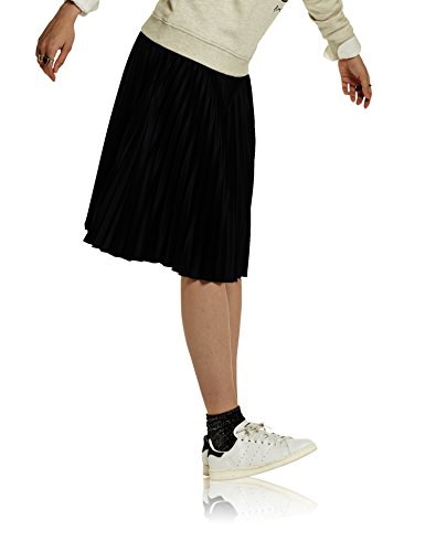 Scotch & Soda Maison Knee Length Pleated Skirt, Gonna Donna Blau (Night 02)