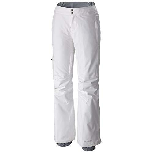 Columbia Wasserdichte Skihose für Damen, Veloca Vixen Pant, Polyester, Weiß, Gr. S, 1681451 -
