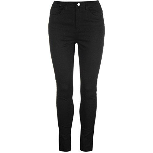 True Denim Damen Highwaist Weiße Denim Jeans Hose Skinny Fit Schwarz 5 Pkt UK 10 29L (Skinny 5 Jean Pkt)