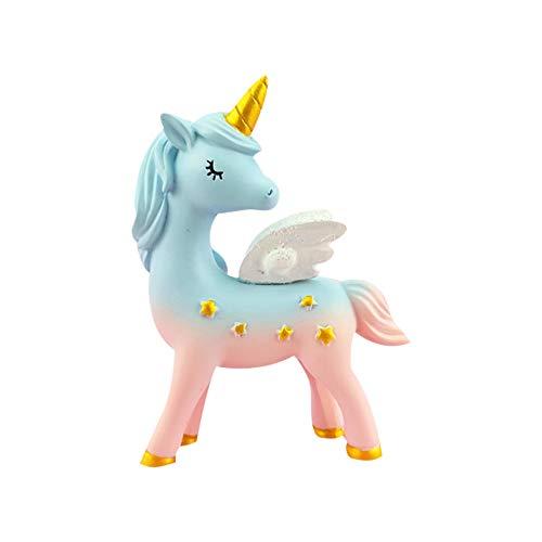 Ruiting Cake Topper Unicornio,Decoración de Tarta de Figura Resina de Unicornio Decoración para Pasteles Cake Topper para Baby Shower Cumpleaños Boda B