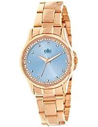 ELITE E55054-813 - Reloj analógico para Mujer, Color Rosa