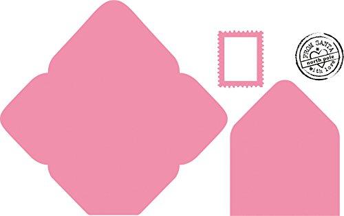 Marianne Design Collectables Elines Umschlag - Stempel und Stanzschablone für die Kartengestaltung und Scrapbooking, Metal, pink, 21 x 15.4 x 0.3 cm
