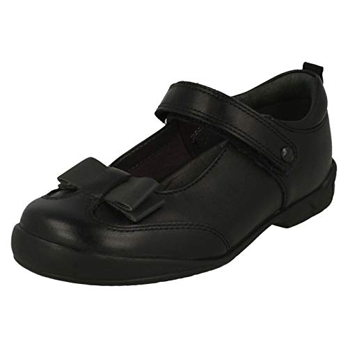 Start-rite Pulse Kids Shoes, Black Leather Girls School Shoes Sizes S10 - L4
