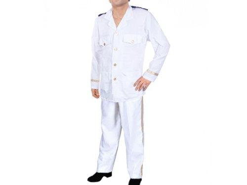 Herren Karnevalskostüm Kapitän (Captain) Marine Offizier Fasching Kostüm -