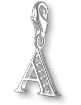 Melina Damen-Charm Anhänger Buchstabe A 925 Sterling Silber 1800999