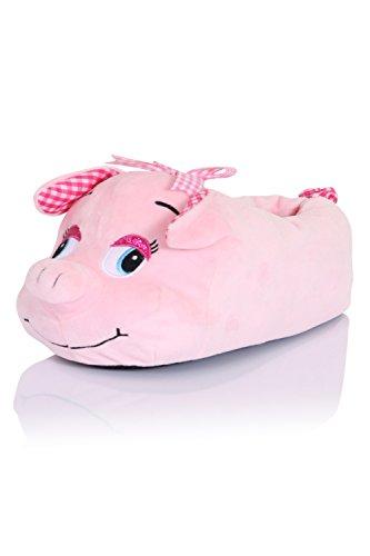 loungeable-boutique-femmes-3d-animal-fantaisie-pantoufles-cochon-rose-eu-38-39