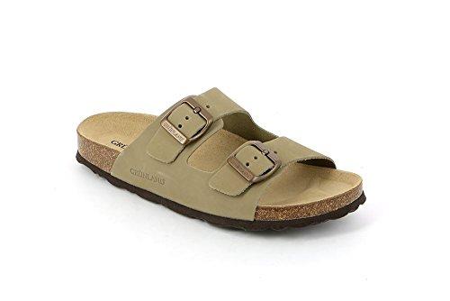 Grunland Sara donna, pelle liscia, sandali Kaki