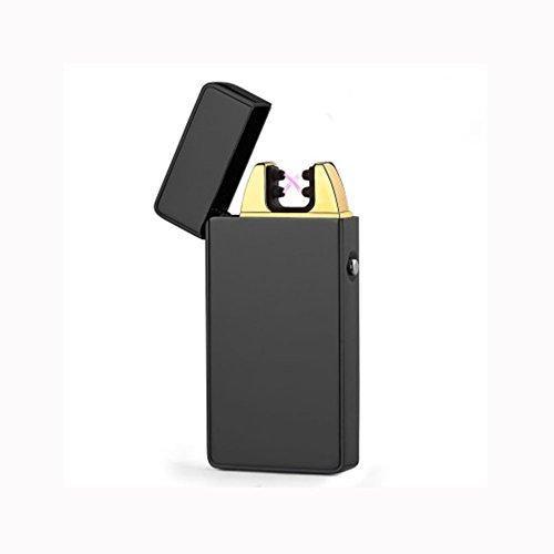 SWAMPLAND USB Elektronisches Feuerzeug Aufladbar Dual Lichtbogen,Zigarette Feuerzeug (Schwarz)