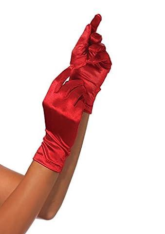 Leg Avenue 2B - Satin Handschuhe, rot