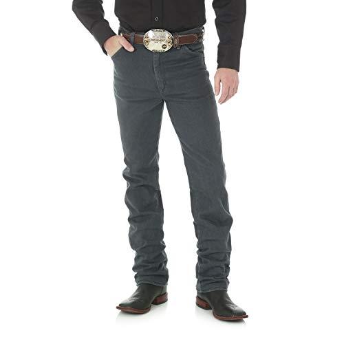 Wrangler Men's Cowboy Cut Slim Fit Jean, Charcoal Grey, 31W x 32L -