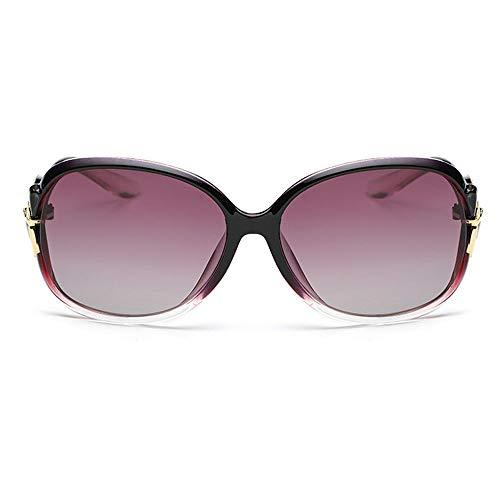 RED SHORE Retro Bunte polarisierte Sonnenbrille, weiblicher polarisierter Spiegel des großen Rahmens der Mode für den UV-Schutz 400, der Sport im Freien fährt