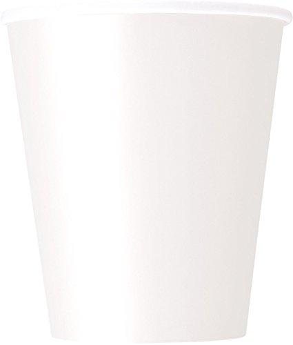 Unique Party Pappbecher,Weiß,8er Packung